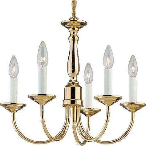 home lighting chandeliers progress lighting 5 light polished brass chandelier p4009