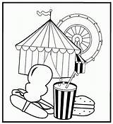 Circus Coloring Pages Printable Peanut Treats Kidprintables Return Main Template Coloring2print sketch template