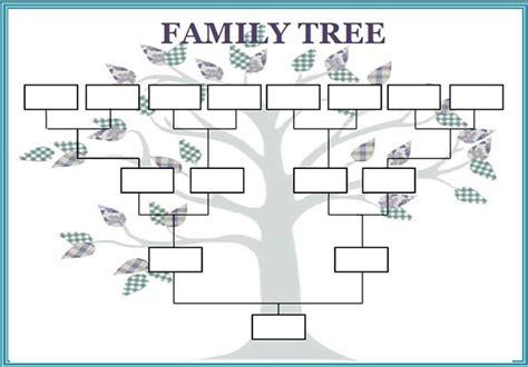 Family Tree Template Word Family Tree Template Word Peerpex