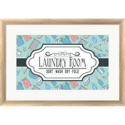 Metaverse Art Laundry Room Sign Framed Print Wallart