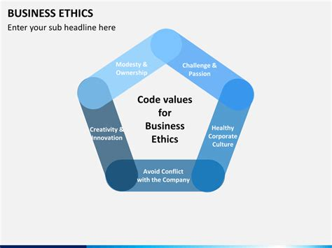 business ethics powerpoint template sketchbubble