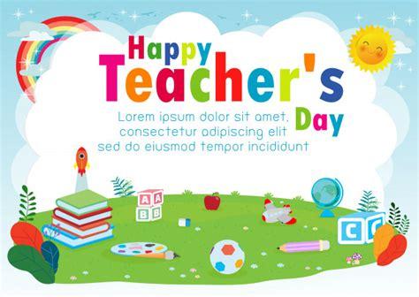 premium vector happy teachers day template greeting card