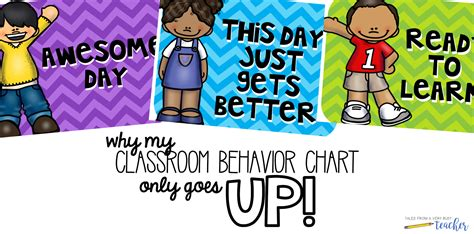 Why My Classroom Behavior Chart Only Goes Up  Tales From A Very Busy Teacher