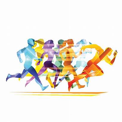 Athletics Run Carnival Vector Illustration Marathon Running