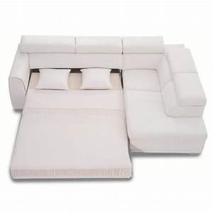 Canapé D Angle Convertible Blanc : canap d 39 angle convertible rose 3nlld cuir blanc achat vente canap sofa divan cuir ~ Teatrodelosmanantiales.com Idées de Décoration