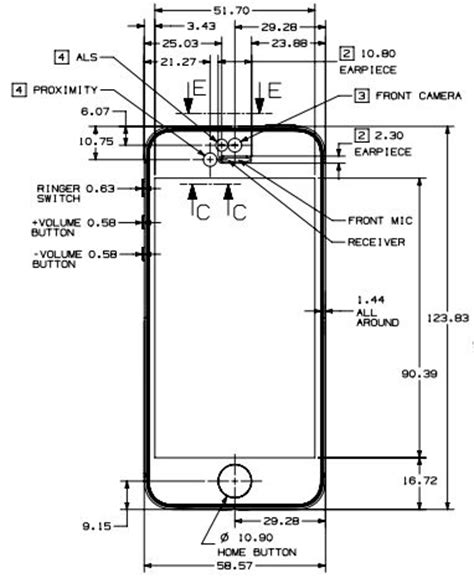 iphone 4 dimensions iphone 5 cad dimensions iphone 4 beautiful the