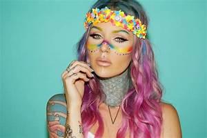 Maquillage De Fête : 1001 id es uniques pour un maquillage hippie de f te ~ Melissatoandfro.com Idées de Décoration