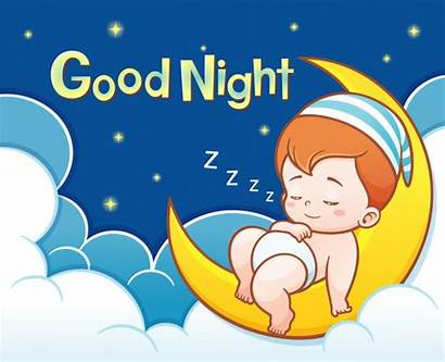 Moon Cartoon Sleeping Night Mond Premium Sterne