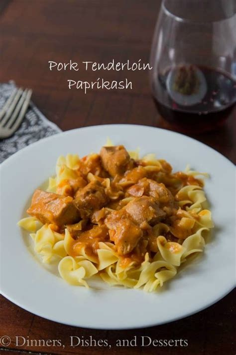 Simply rub the pork with a tasty dry rub, quickly sear, then bake in a hot oven. Pork Tenderloin Paprikash   Pork recipes, Leftovers recipes
