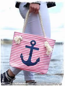 Tasche Mit Anker : maritime tasche klein rosa weiss gestreift mit anker in blau ~ Eleganceandgraceweddings.com Haus und Dekorationen