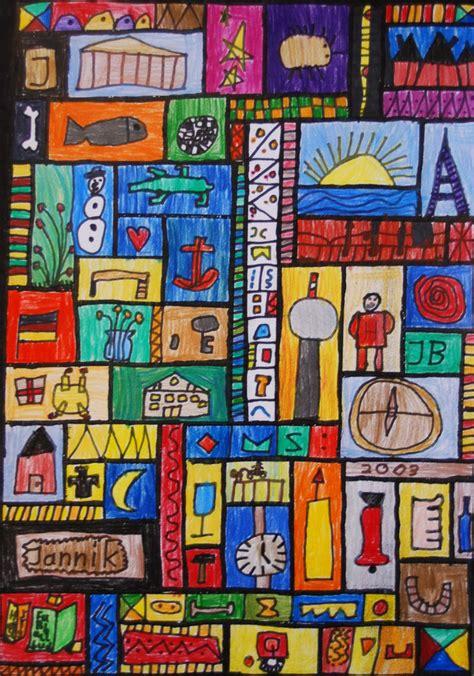 kunstunterricht  der grundschule kunstbeispiele klasse