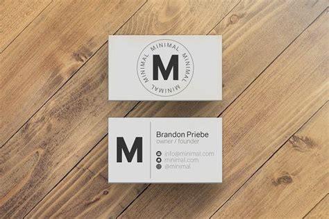 minimal business card template  images minimal
