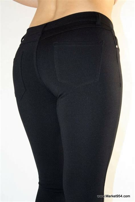 Black Gray Jeggings Women Skinny Pants Stretch Fabric