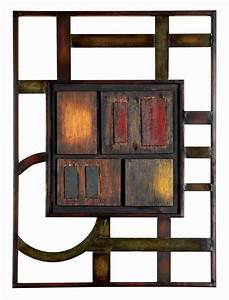 Touch of color rectangle metal wall art