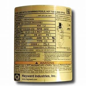 Hayward Max-flo Ii 1 5 Hp Motor - Spx2710z1m