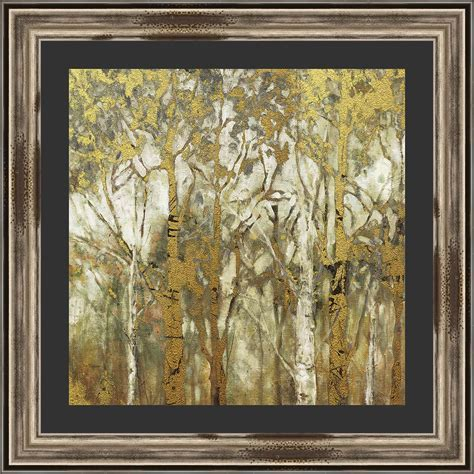 Western Birch Forest Framed Print
