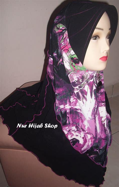 nur hijab shop tudung corak labah labah sold