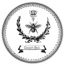 Queen Bee Clip Art Black and White