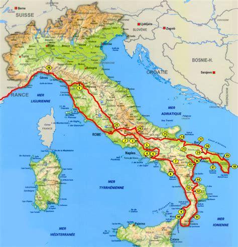 Carte Sud De Et Italie by Carte Italie Sud