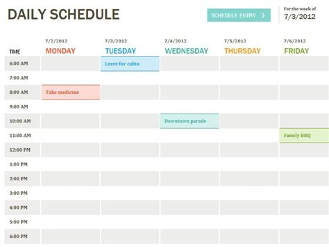 plan daily schedule 17 best ideas about daily schedule template on pinterest
