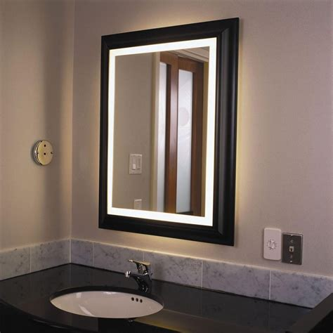 Lighted Bathroom Mirrors by Lighted Vanity Wall Mirrors Mirror Ideas