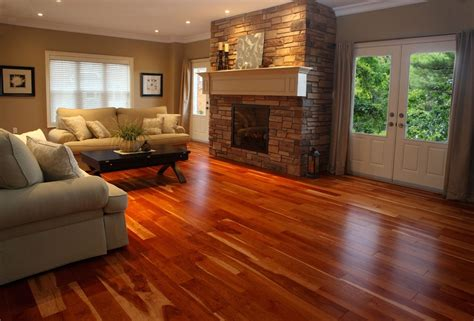 Design Of Living Room Flooring by Warm Cherry Hardwood Flooring Home Ideas Collection