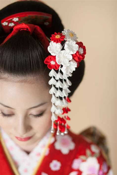 japanese hair accessory  kimono kanzashii