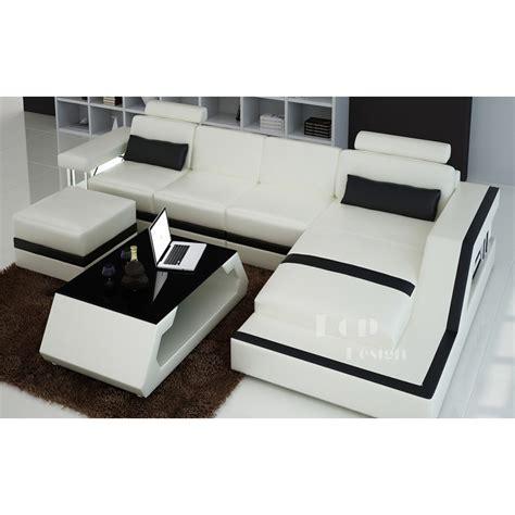 design canapé canapé d 39 angle design en cuir véritable tosca pouf pop