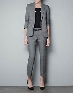 Zara Checked Blazer in Gray | Lyst