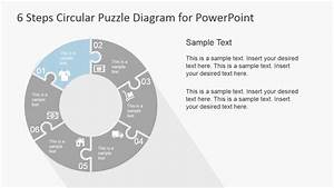 6 Step Circular Puzzle Diagram Template For Powerpoint