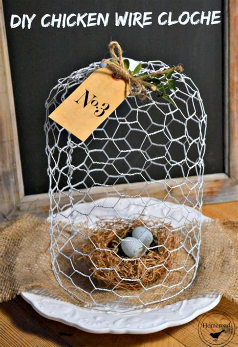 white chicken wire cloche homeroad