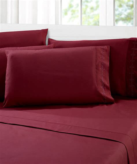 1000 series burgundy bed sheet sets bnf home inc