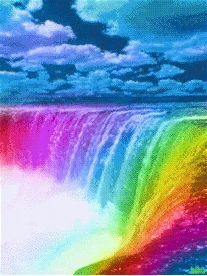 Backgrounds Rainbow Waterfall Waterfalls Water Usa Wallpapers