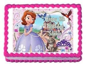 sofia the princess party decoration cake topper cake