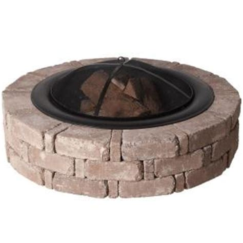 home depot pit insert pavestone 45 8 in x 10 5 in rumblestone pit