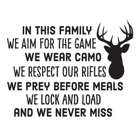 hunting family rules wall quotes decal wallquotescom