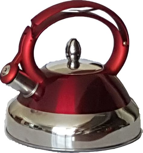 stainless steel kettle red golden chef