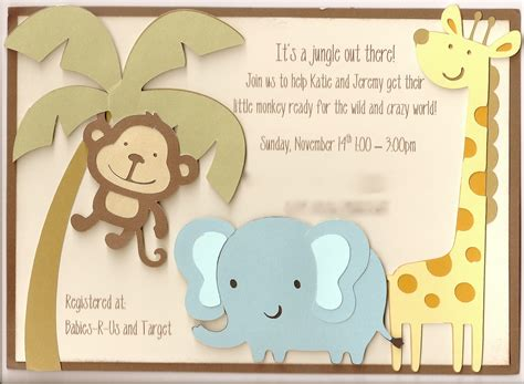 baby shower invitation decorations jenski family updates s jungle baby shower