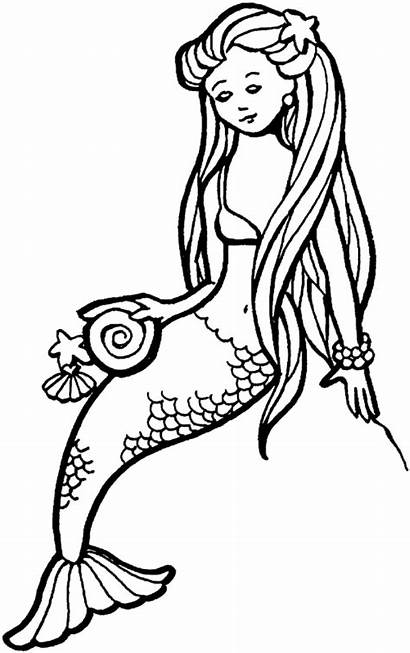 Mermaid Clipart Draw Tails Clip Pages Colouring
