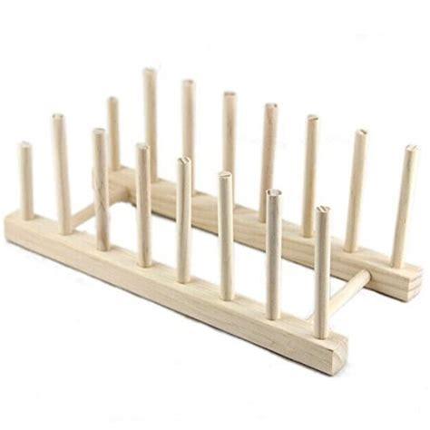 buy whitelotous multi purpose wooden plate rack wood stand display holder lid organizer rack