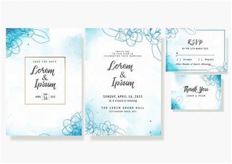 Wedding floral invitation card save the date rsvp design