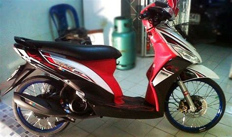 Modif Mio Sporty Velg 17 by Modifikasi Motor Yamaha Mio Velg 17 Jari Jari King