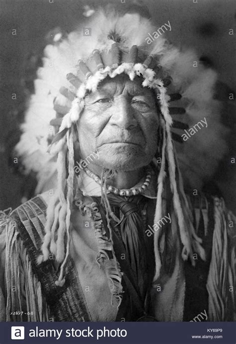Indian Chief Image by American Indian Warrior Black White Stock Photos