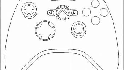 Xbox Controller Coloring Pages Printable Ps4 Getdrawings