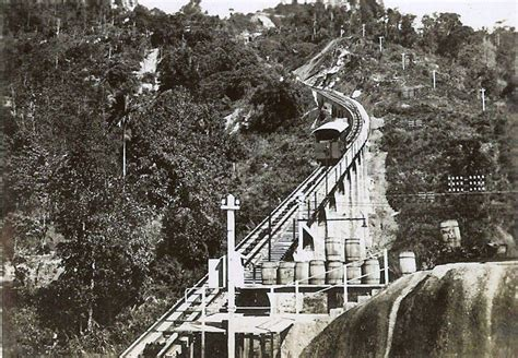 Funicular railway, is a view looking from the Middle ...