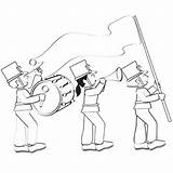 Coloring Parade Own Parents Marching sketch template