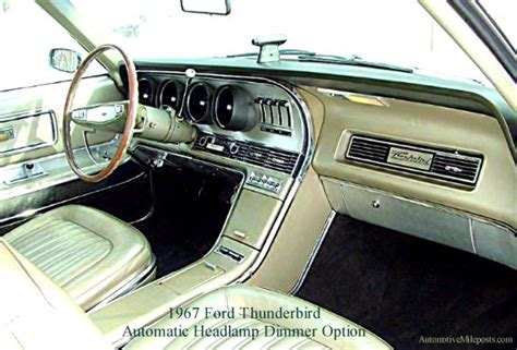 Rare Option: Ford Thunderbird Autolamp and Automatic ...