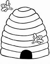 Bee Coloring Pages Preschool Printable Animals Bees Crafts Printables Kindergarten Hive Colouring Craft Template Preschoolcrafts Arı Boyama Kovanı Templates Honeycomb sketch template