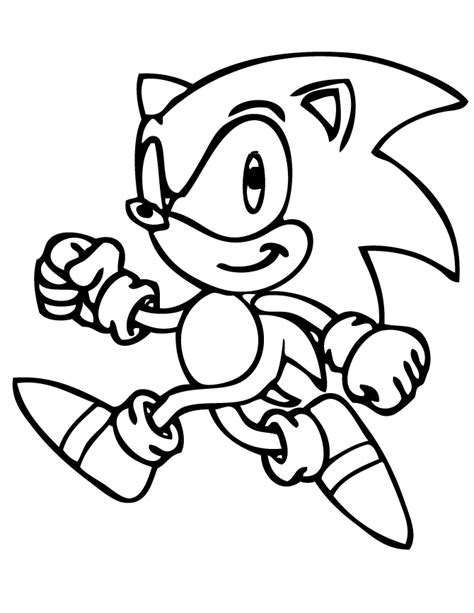 Sonic The Hedgehog Walking Coloring Page | H & M Coloring ...