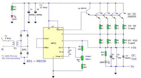 volt  amp power supplycircuit diagram world